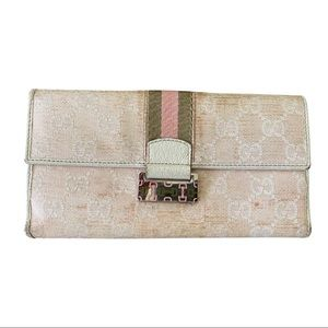 Authentic Pink Gucci Long Wallet**